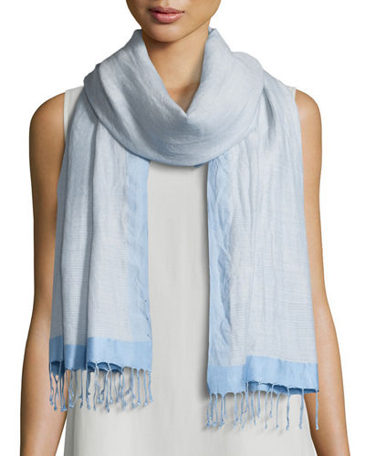 Hand-Loomed Wool/Silk Pathways Scarf