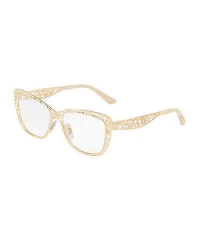 Flowers Lace Square Optical Frames