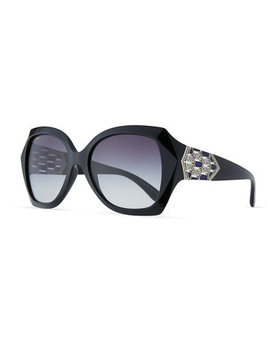 BVLGARI Serpenti Oversized Butterfly Sunglasses