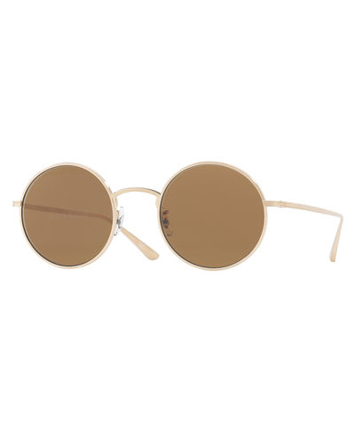 Oliver Peoples After Midnight Round Sunglasses
