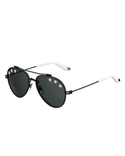 Rubber Star Aviator Sunglasses