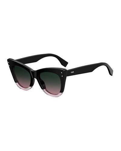 Two-Tone Acetate Cat-Eye Sunglasses