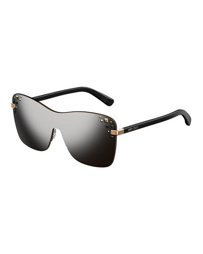 Masks Mirrored Swarovski® Shield Sunglasses