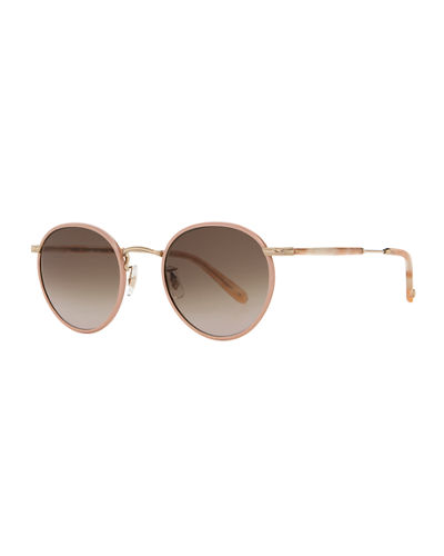 Wilson Round Gradient Filigree Sunglasses