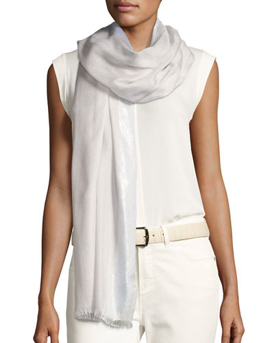 Loro Piana Angel Metallic Cashmere-Blend Stole
