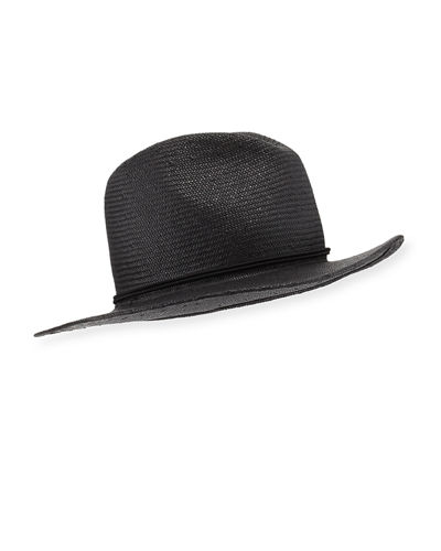 Classic Packable Straw Fedora Hat