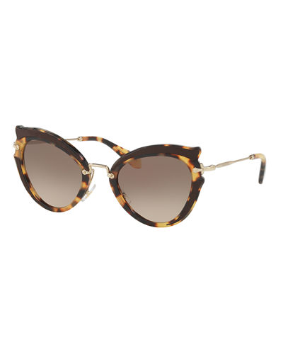Miu Miu Gradient Cat-Eye Sunglasses