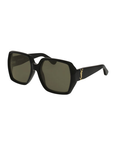 Oversized Square Monochromatic Sunglasses