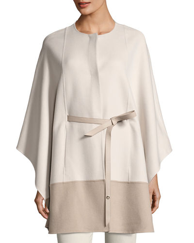 Sporty Double-Face Cashmere Cape