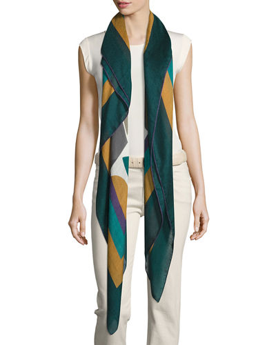 Loro Piana Abstract Portrait Soffio Scarf