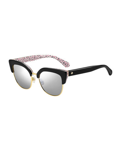 karris square semi-rimless sunglasses