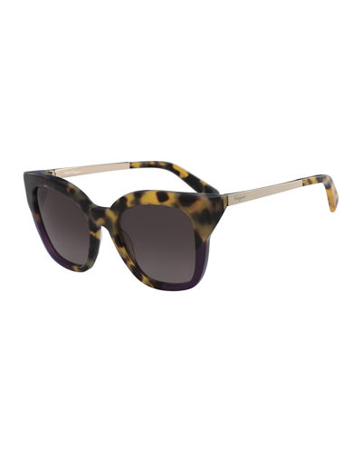 Gradient Square Cat-Eye Sunglasses