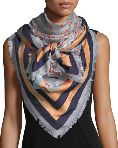 Square Butterfly Shawl Scarf