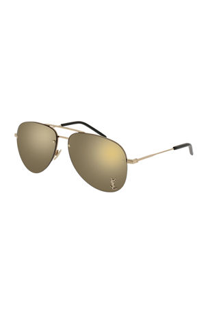Saint Laurent Classic 11 Monochromatic Aviator Sunglasses