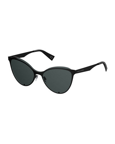 Flat Metal Cat-Eye Sunglasses