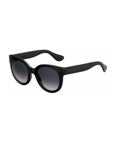 Rubber Cat-Eye Sunglasses