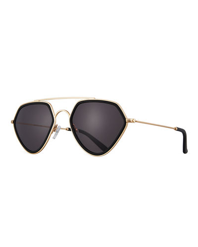 Geo II Geometric Aviator Sunglasses
