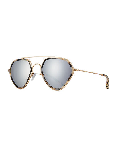 Smoke X Mirrors Geo II Geometric Aviator Sunglasses