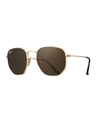 Polarized Hexagonal Metal Sunglasses