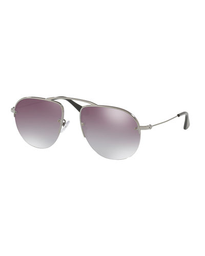 Metal Modified Aviator Sunglasses
