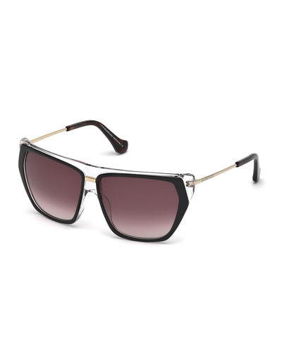 Transparent Wrap Sunglasses