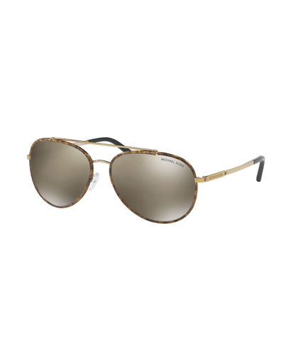 Aviator Sunglasses with Marbleized Detail