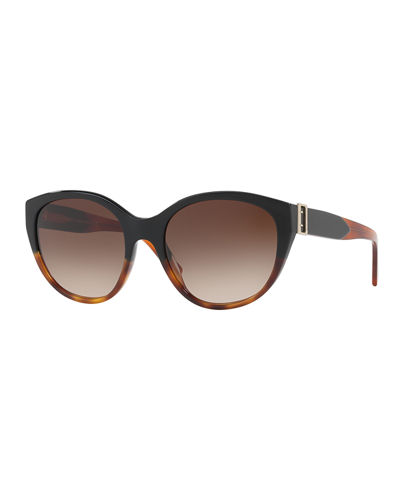 Gradient Cat-Eye Buckle Sunglasses