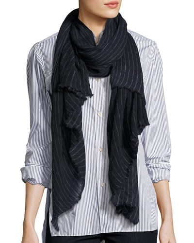 Zephyr Striped Cashmere Scarf