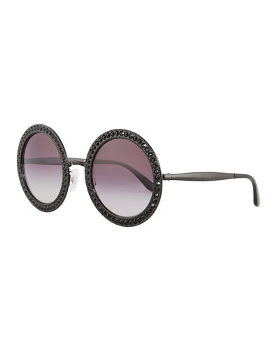 Oversized Round Metal Swarovski® Sunglasses