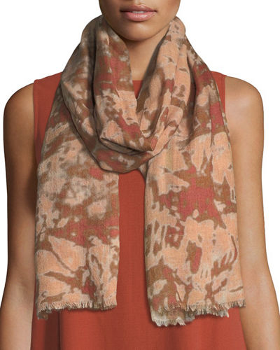 Digital Pathways Silk/Wool Scarf