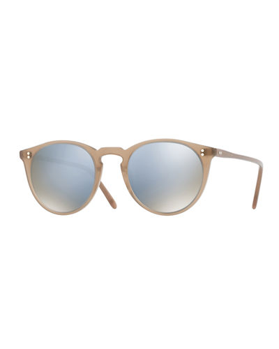 O'Malley NYC Peaked Round Mirrored Sunglasses