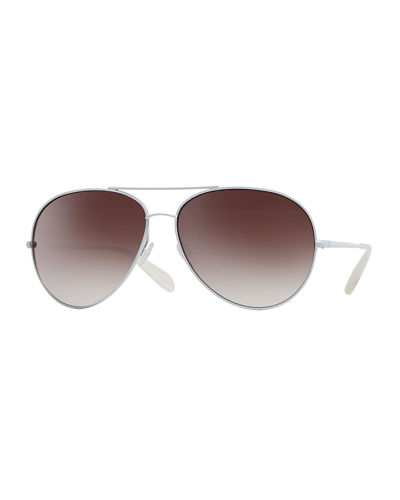 Sayer Oversized Mirrored Aviator Sunglasses