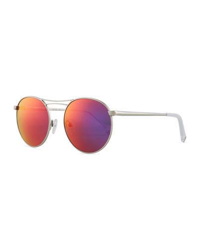 Bella Thin Wire Round Sunglasses