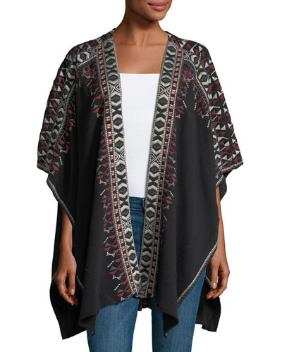 Issoria French Terry Blanket Poncho