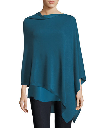 Eileen Fisher Sleek Tencel®/Merino Poncho