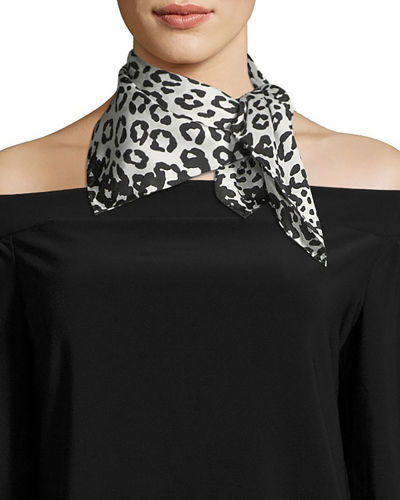 Marc Jacobs Leopard-Print Silk Square Scarf
