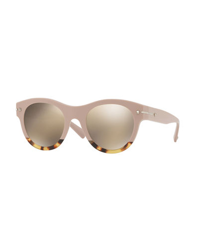 Two-Tone Rockstud Iridescent Sunglasses