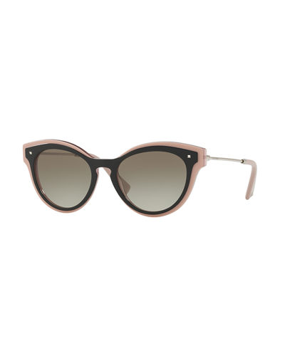 Monochromatic Oval Rockstud Sunglasses