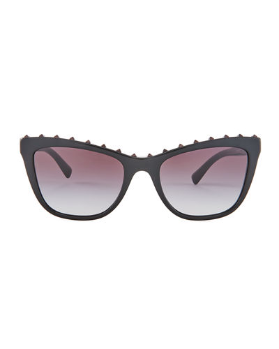 Cat-Eye Rockstud Sunglasses