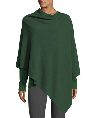 Eileen Fisher Fine Merino Links Poncho, Petite