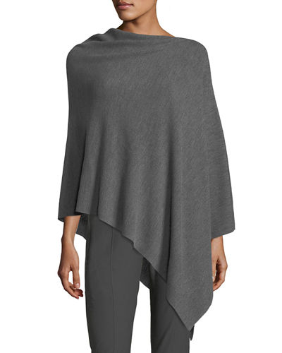 Eileen Fisher Fine Merino Links Poncho