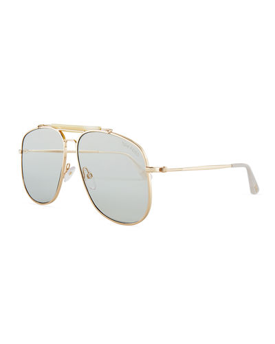 Connor Aviator Metal Sunglasses