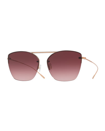 Ziane Rimless Photochromic Gradient Sunglasses