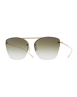 Oliver Peoples Ziane Rimless Photochromic Gradient Sunglasses