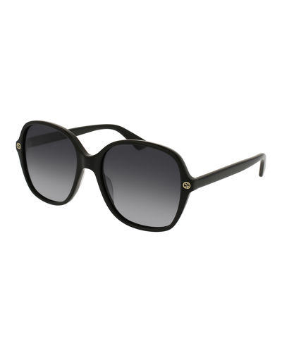 Rectangular GG Gradient Sunglasses