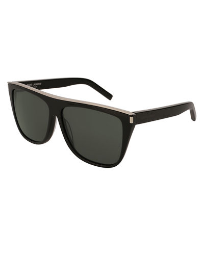 Flat-Top Rectangle Sunglasses