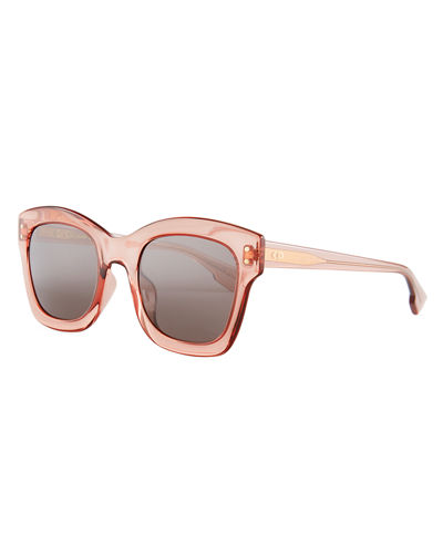 Dior Izon2 Square Transparent Sunglasses