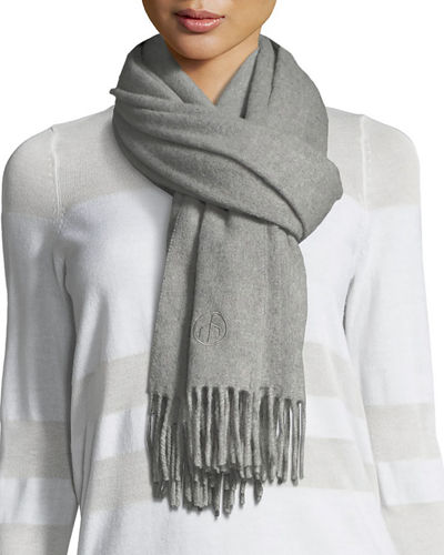 Classic Cashmere Scarf w/ Fringed Edges