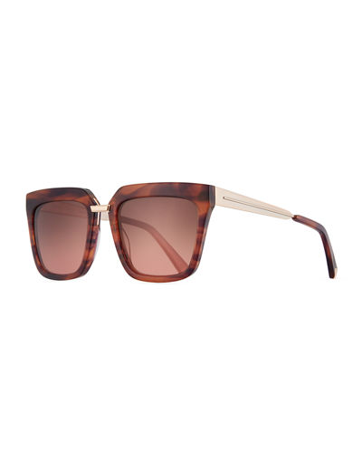 Karissa Square Acetate & Metal Sunglasses
