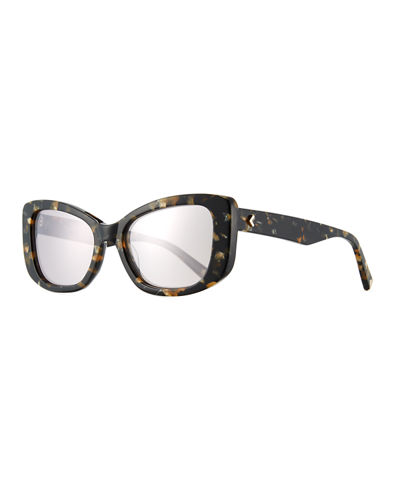 Rikki Speckled Butterfly Sunglasses